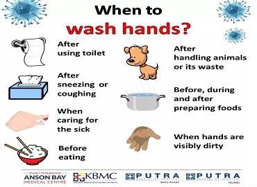 When to wash hands?
