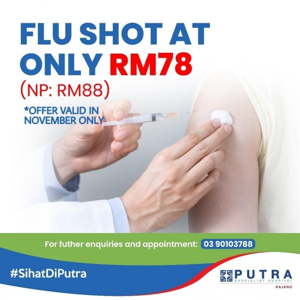 Flu Shot at only RM78