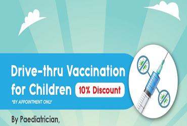 Drive-Thru Vaccination For Children Promotion